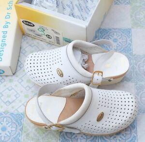 Scholl Chaussures Professionnelles Sabot Perforé Blanc 00634 taille 35