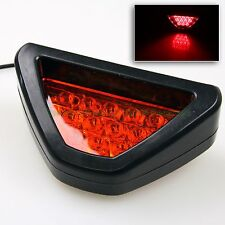 SPORTY 12 LED RED TRIANGLE SHAPED F1 DIFFUSER STYLE 3RD BRAKE LIGHT/LAMP ADD-ON