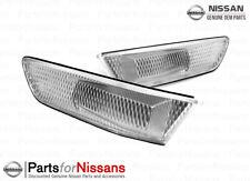 JDM Nissan Skyline Infiniti G35 Coupe Front Clear Corner Side Marker Lights