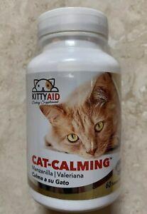 Kitty Aid CAT-CALMING (Manzanilla/Valeriana) Calma a su Gato 60 tab Saborizadas