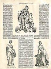 Beaux-Arts de Paris Attila Sainte Geneviève Maindron/ Sapho Pradier GRAVURE 1848