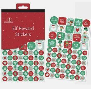 Book of Elf Santa Christmas Reward Stickers  School 8 pages Kids Craft Xmas
