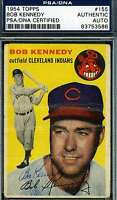 Bob Kennedy 1954 Topps Hand Signed Psa/dna Original Hand Authentic Autograph
