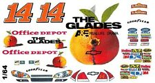 #14 Tony Stewart GLADES 2011 1/64th HO Scale Slot Car Waterslide Decals