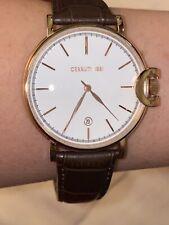 CERRUTI Watch Men's Wristwatch CRA155  Rose Gold Brown Leather Band W/date