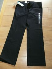 NWT BLACK STRETCH MATERNITY TROUSERS - SIZE 10 REGULAR - FULL SUPPORT - OLD NAVY