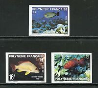 FRENCH POLYNESIA SCOTT#341/43  IMPERFORATE MINT NEVR HINGED