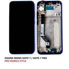 VITRE TACTILE ORIGINALE CHASSIS LCD XIAOMI REDMI NOTE 7 / NOTE 7 PRO noir outils