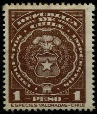 CHILE, DOCUMENTARY STAMP, 1 PESO, MINT NEVER HINGED