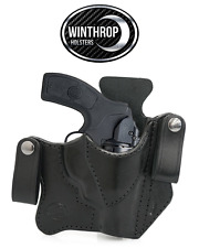 S&W 38 Bodyguard Insight laser IWB Dual Snap Holster R/H Black