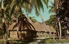 fiji islands, KOROLEVU, Bure Accommodation (1962) Curteich 1055 Stamp