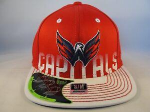 Washington Capitals NHL Reebok Flex Cap Hat Size S/M Red White