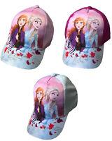 Disney la Reine des Neiges Anna Et Elsa Casquette Baseball avec Paillettes Pic