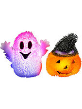 12 Assorted Light Up Halloween Stress Puffer Ball Release Squeeze Toys