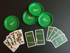 Sauspiel-Set mit 4 x Schafkopfkarten und 4 Geldschüsserl