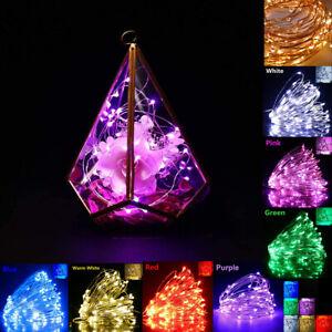 LED USB Plug Micro Rice Wire Copper Fairy String Light Party XMAS Decor 4-20M UK