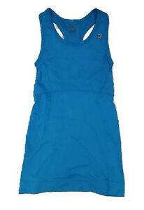 JUICY COUTURE PETITE Sport Yoga Wave Blue TANK with SHELF BRA ( P ) XS