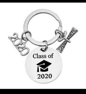 Graduation Class of 2020 University Keyring chain Gift Keepsake Bag 274