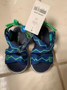 NWT-Toddler Boys Carter's Blue/Green Splash3B Athletic Sport Sandals-Sze 6