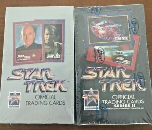 1991 Impel Star Trek 25th Anniversary Series 1 & 2 Factory Sealed Wax Boxes