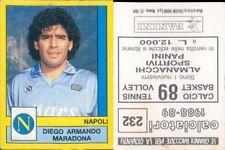 CALCIATORI PANINI 1988/89 *Figurina-sticker  N.232* NAPOLI-MARADONA*NEW