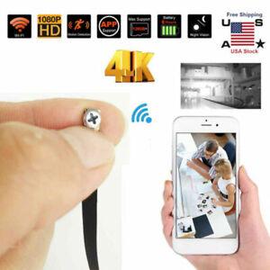 1080P HD Mini Spy Cam WiFi Hidden Pinhole Screw Camera Nanny Motion DVR CAM