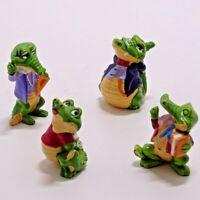CRAZY CROCOS 1992 Figures Kinder Egg Surprise Handpainted Mini Figure Lot of 4