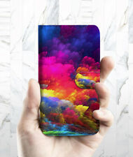 Colorful Cloud Wallet Case Cover For Samsung Galaxy S5 - A021