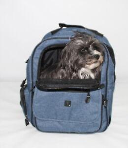 Flamingo Backpack Wiro blau Hundetragerucksack / Hundetasche bis 7 kg