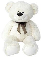XXL TEDDYBÄR 100cm weiss Plüschbär Teddy Stoffbär Plüsch Plüschtier Bär 1m gross