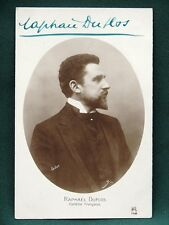 Raphael Duflos - Comédie Française Actor - antique French signed RPPC