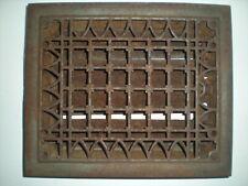 Vintage VICTORIAN Cast Iron Floor Grille Heat Grate Register Louvers aprox12 x10
