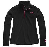 NWT Women's The North Face Pr Tech Glacier Quarter Zip Black And Pink Size XS