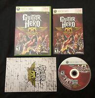 Guitar Hero Aerosmith — Complete With Manual & Tour Book! (Xbox 360, 2008)