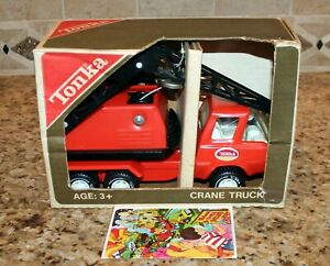Vintage 1975 Tonka Magnetic Crane Truck w/ Insert & Look Book New in Box NOS