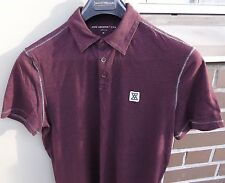 JOHN VARVATOS Mens Short Sleeve Polo Shirt Size Medium Dark Brown 100% Cotton
