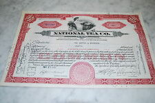 Stock Certificate - NATIONAL TEA CO. – ILLINOIS 1935
