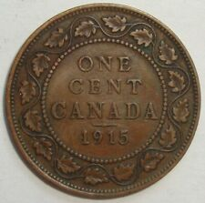 1915 CANADA ONE 1 CENT GEORGE V LARGE PENNY COIN