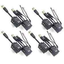 4 Pairs Cat5 Passive Video and Power Balun Transceiver