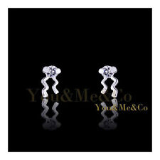 18k White Gold EP 0.2ct Brilliant Cut Crystal Stud Earrings