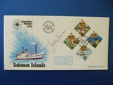 1986 OPERATION RALEIGH SOLOMON ISLES COVER SIGNED BY JEAN BOHT [ BREAD ]