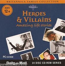 BRITANNICA FAMILY COLLECTION: HEROES & VILLAINS (Daily Mail PC CD-ROM)