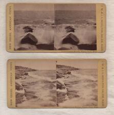 ATLANTIC OCEAN PIGEON COVE MA 2 Stereoviews circa 1860-1870 MASSACHUSETTS