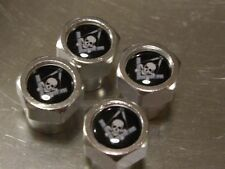 FREEMASON MASONIC SKULL AND CROSSBONES ALLUMINIUM TYRE VALVE CAPS FOR TIRE WHEEL