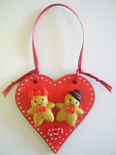 Gingerbread Man/Lady christmas tree decoration or kitchen decoration Wood heart.