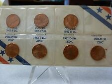 1982 7-Coin Lincoln Penny Set. Brilliant Uncirculated. #2