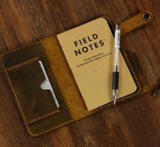 notebook book jacket cover slipcase pocket cow leather customize brown H028