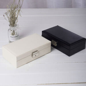Portable Travel Jewelry Box Organizer Velvet Jewellery Ornaments Case Storage