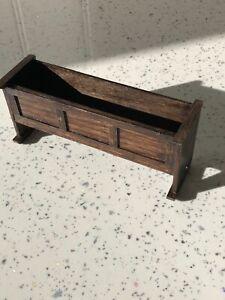 Dolls house miniature 1:12 Medieval / Tudor long cradle / crib