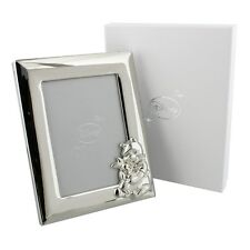 "Disney Winnie the Pooh Silver plated Photo Frame 3.5x5"" NEW in Gift Box"